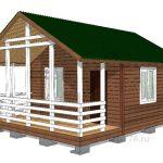 проект дачный дом 4x6