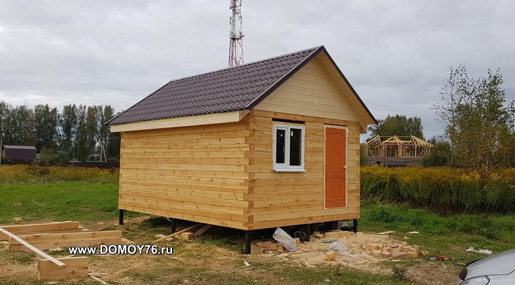 Проект бани Лиман фото строительства 14
