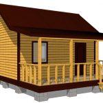 дачный дом проект 5x4