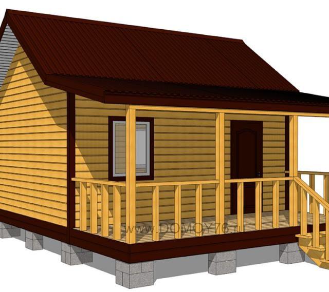 Дачный дом 5×4