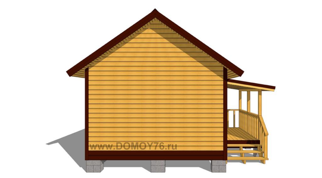 проект дачного дома 6x4 вид 3