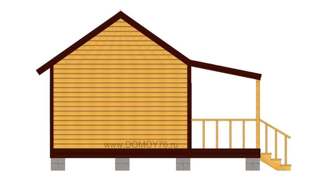 проект дачного дома 5x4 от компании ДоМой