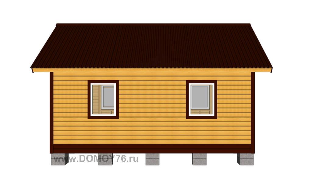 проект дачного дома 6x4 вид 1