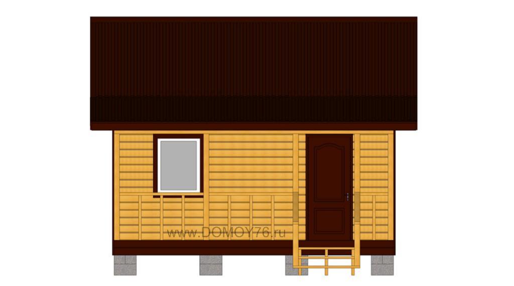 проект дачного дома 5x4 вид сбоку