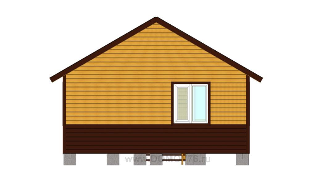вид 2 проекта дачный дом 6x6