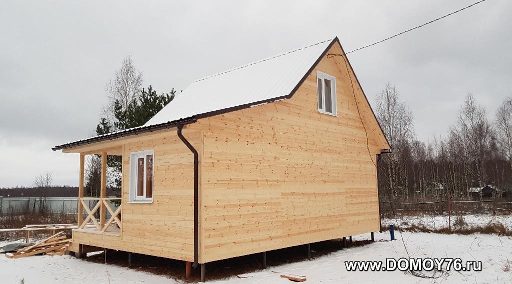 Дачный дом 6x8, портфолио фото 2