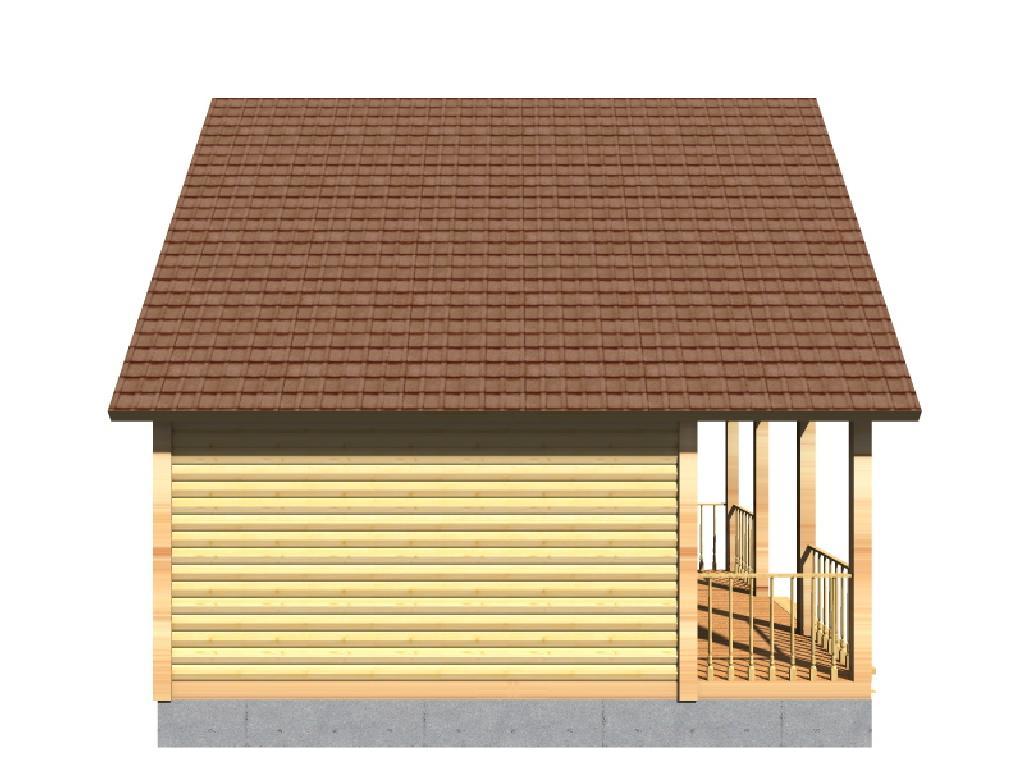 проект дома виктория вид сбоку
