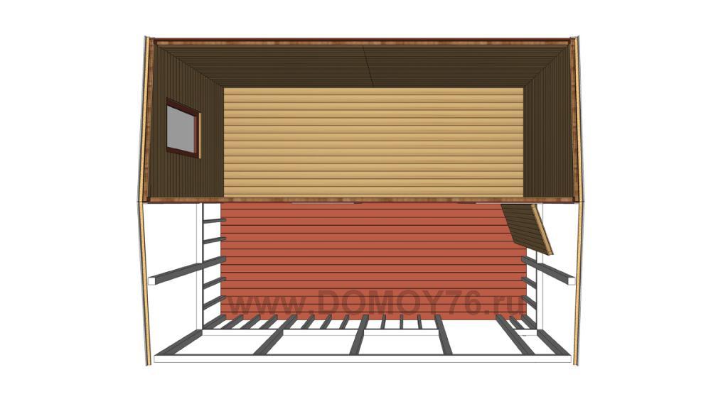 компания ДоМой проект садового дома 3 вид 3