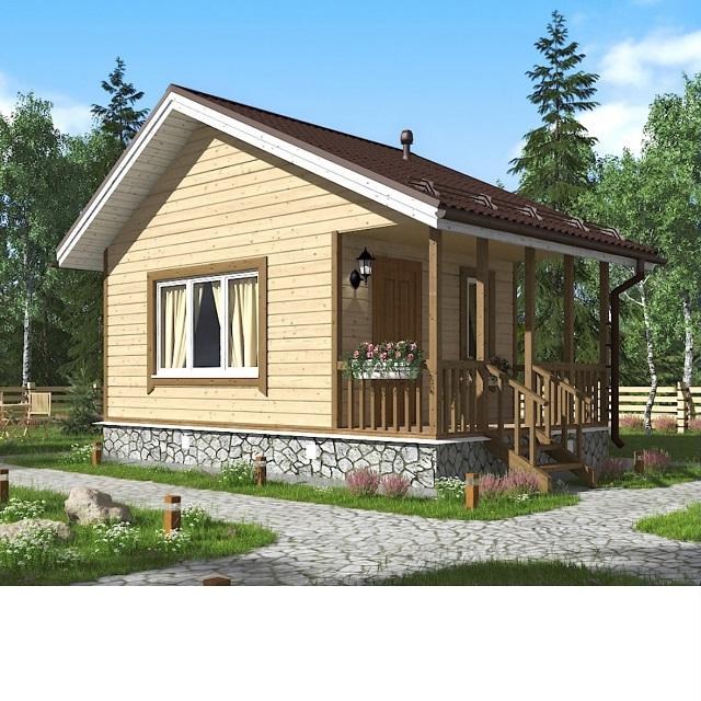 Проект дома «Амур». 5х5 м.
