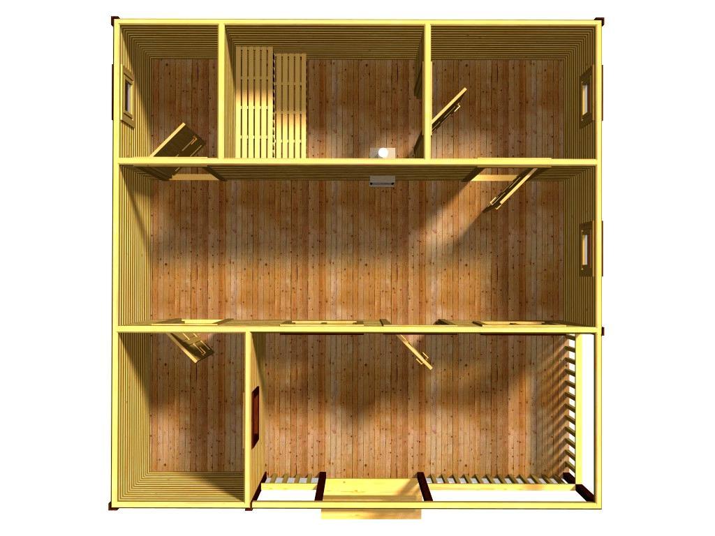 Проект бани Ариэль вид этажа