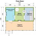 проект бани Азалия план