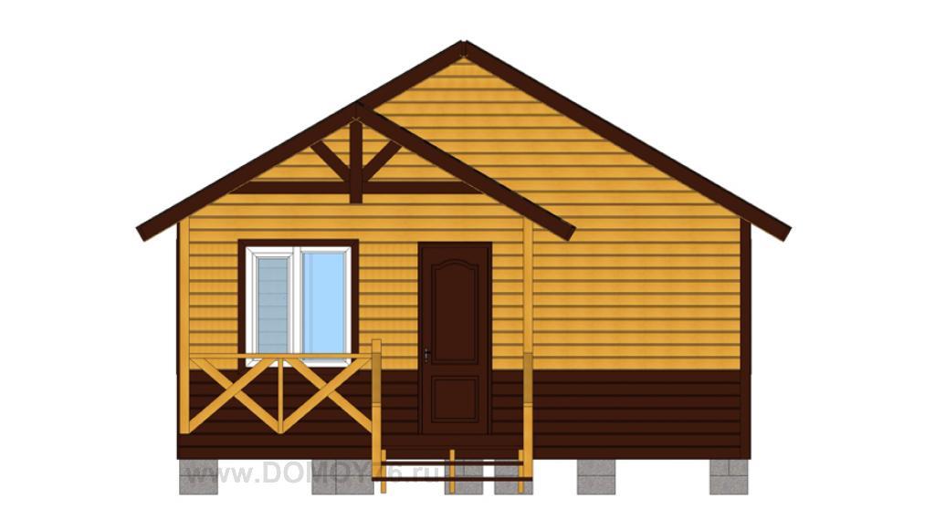 вид 3 проекта дачный дом 6x6