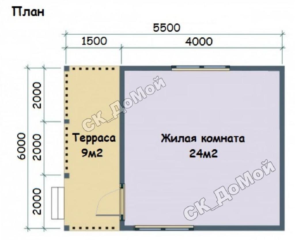 план дома по проекту Дачник