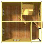 План первого этажа проекта Дубна