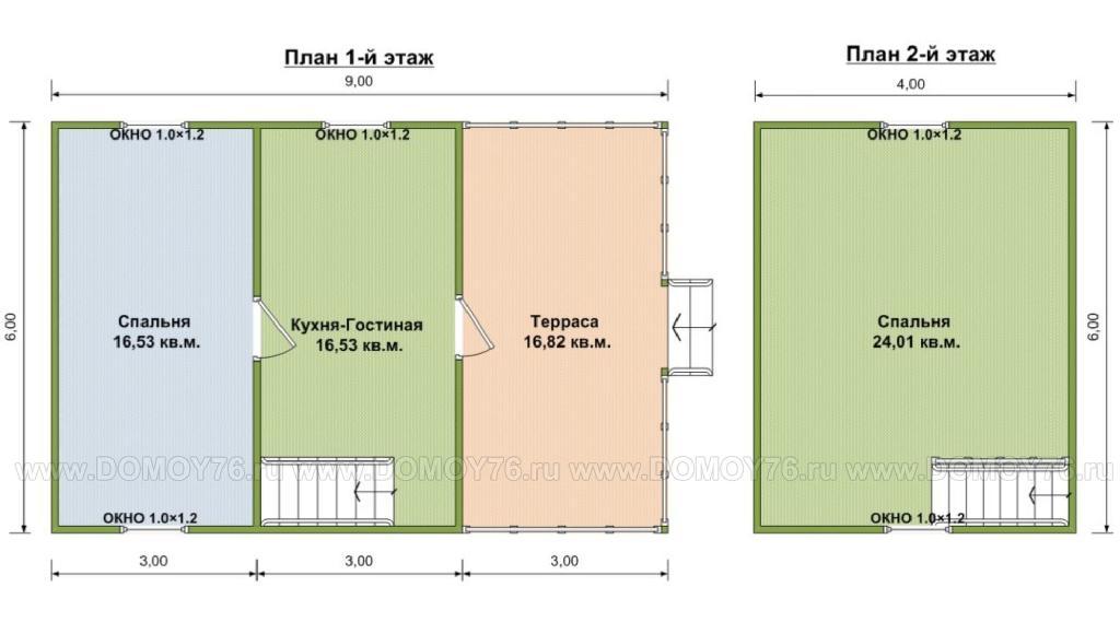 План дома по проекту Енисей