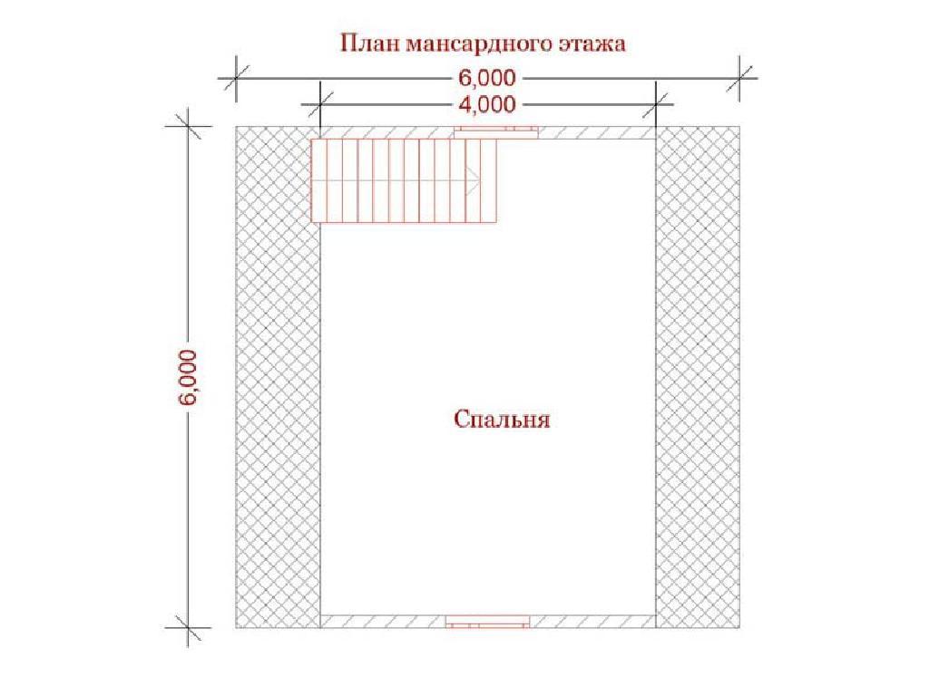 план второго этажа дома по проекту ермак