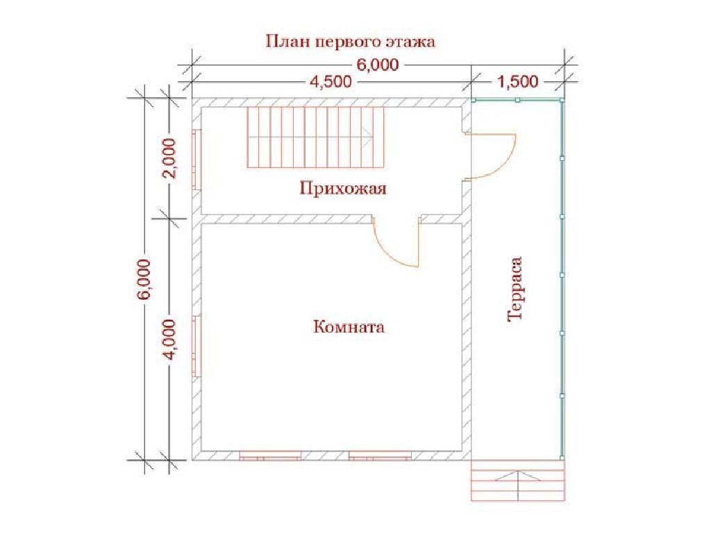 план первого этажа дома по проекту ермак