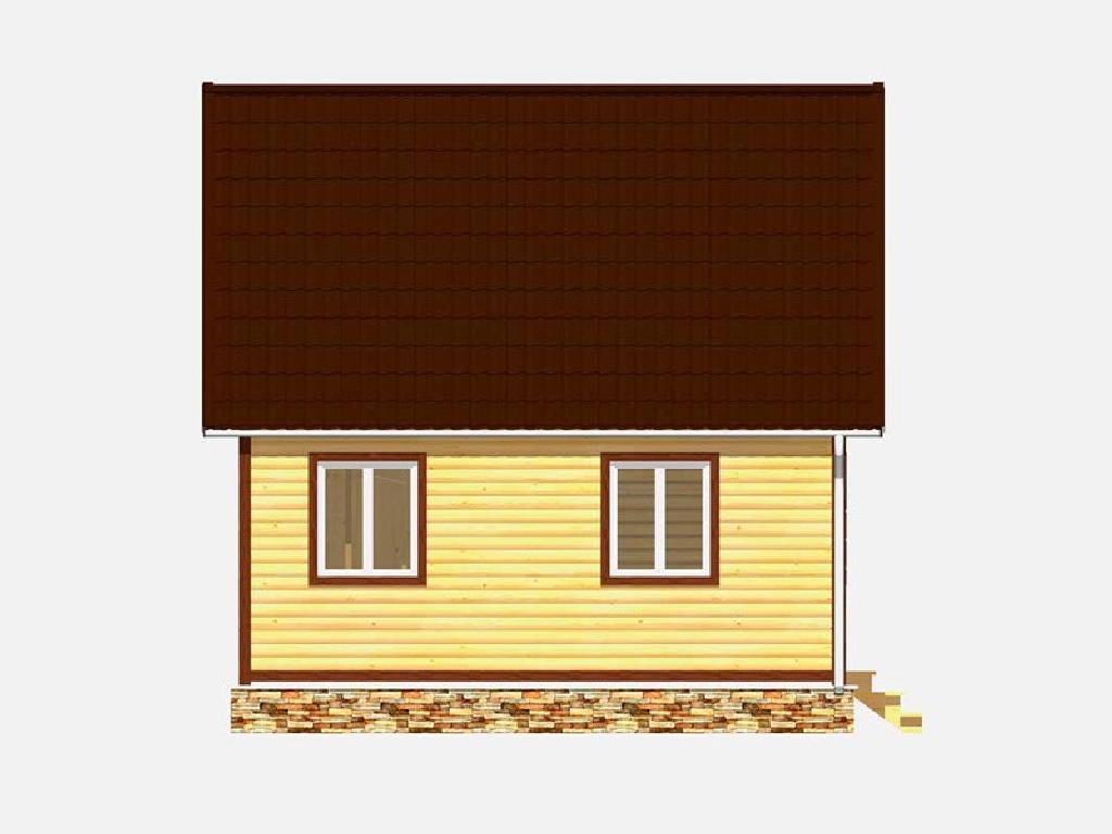 Вид сбоку дома по проекту ермак