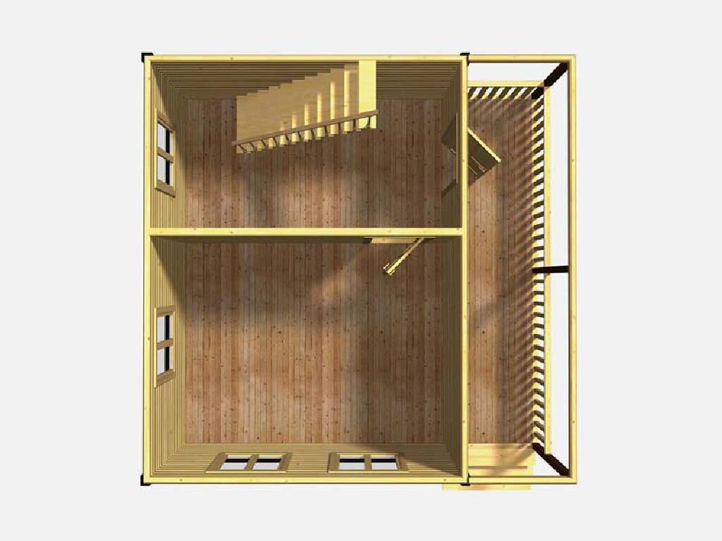 вид первого этажа дома по проекту Ермак