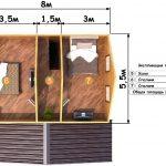 План второго этажа проекта Глебовский