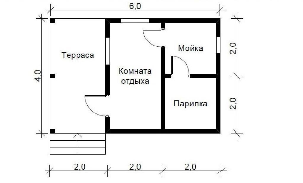 Проект бани Корвет план