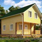 Проект дома лазурный строительная компания ДоМой