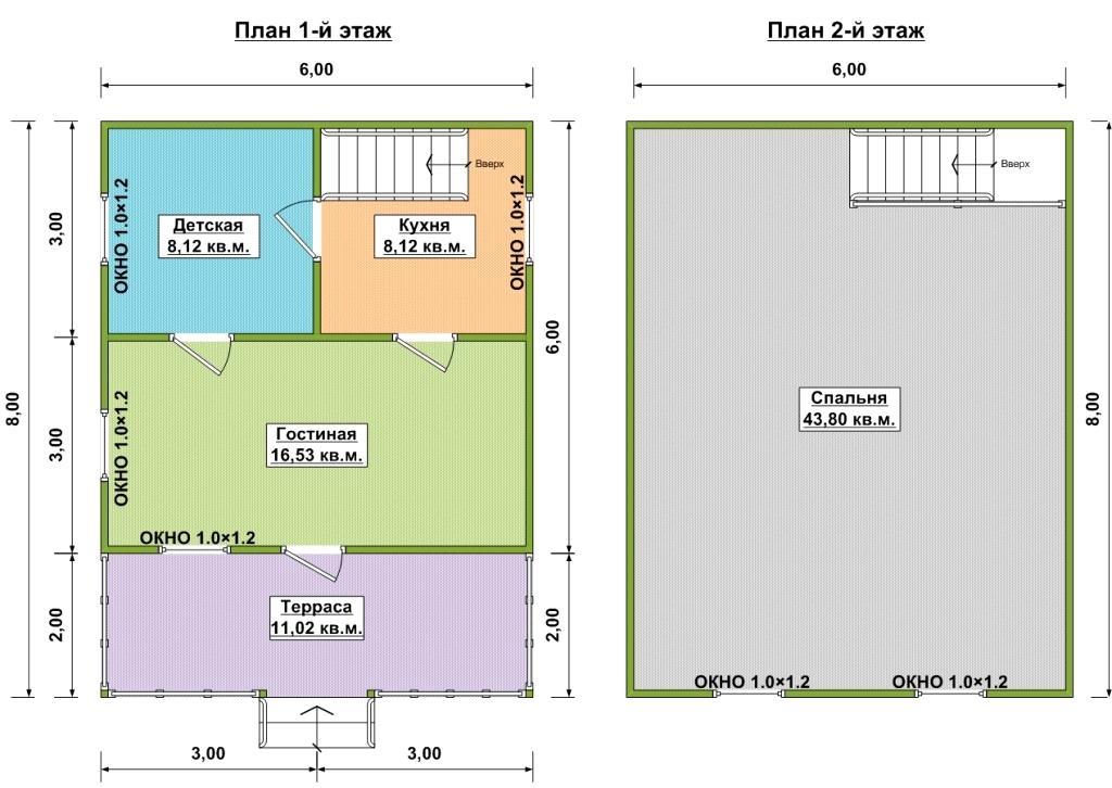 План дома по проекту Лазурный