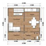 План первого этажа проекта Милан