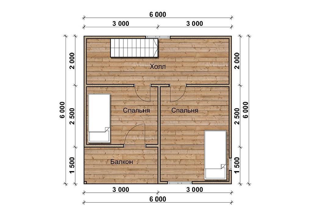 План второго этажа проекта Милан