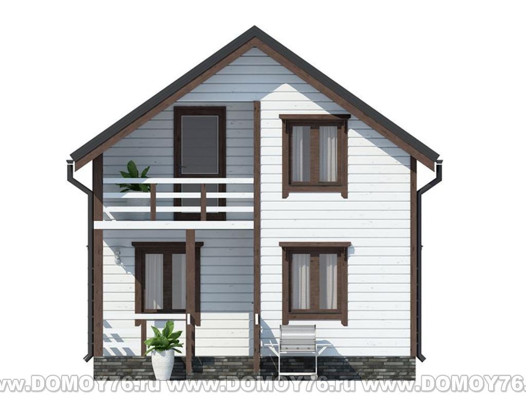 Фасад дома по проекту Милан