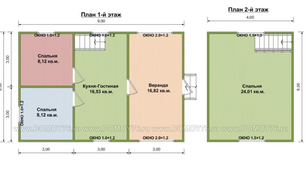 план дома по проекту мираж