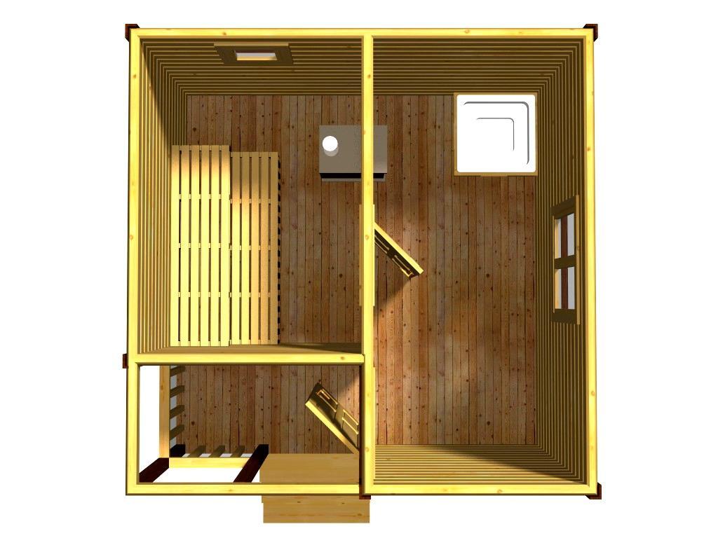 Проект бани Морель вид этажа