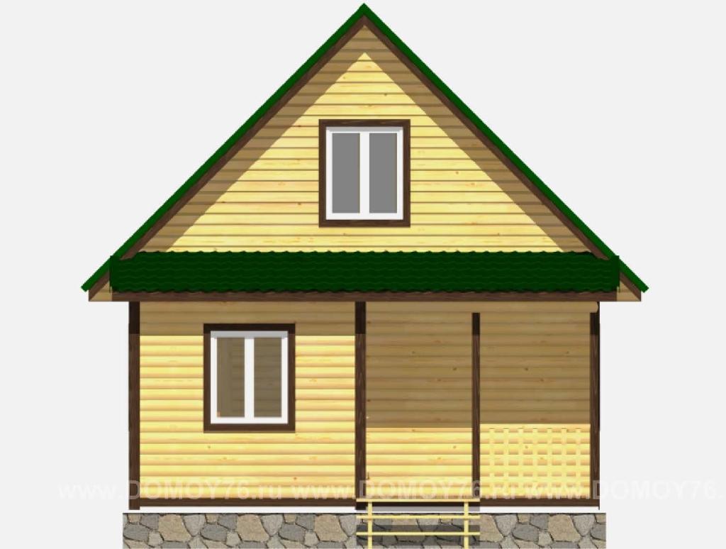 Вид спереди дома по проекту Одиссей