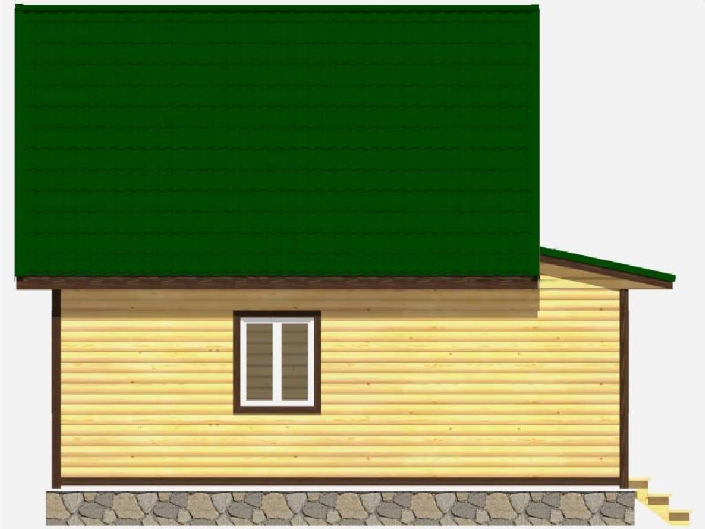 Вид сбоку дома по проекту Одиссей