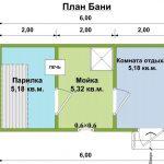 Проект бани Пирс план