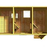 Проект бани Пирс вид этажа