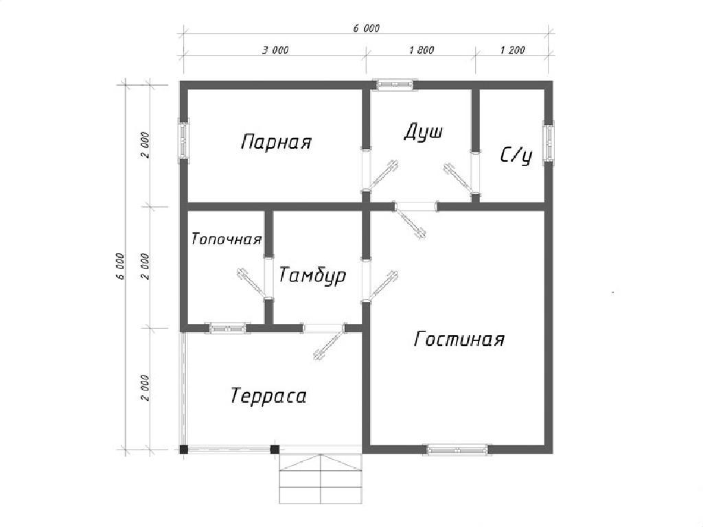 Проект бани Релакс план
