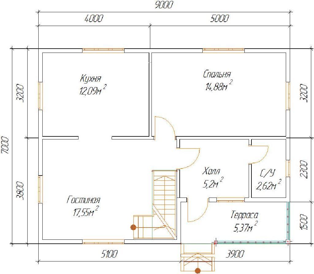 план второго этажа проекта дома сказка
