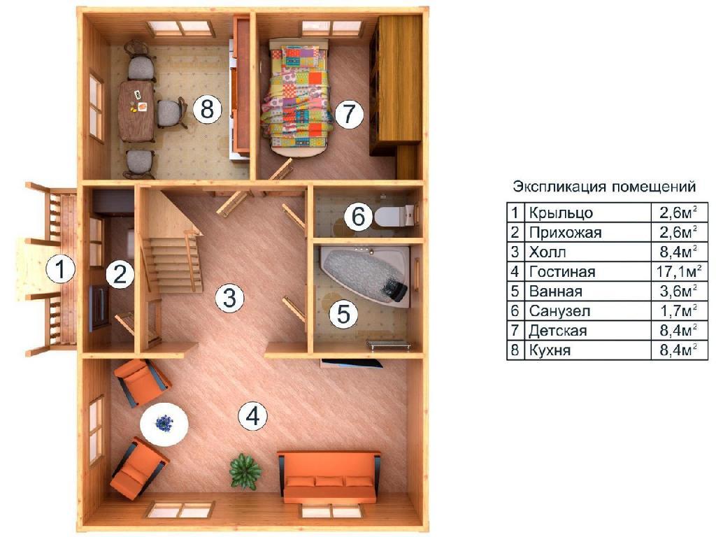 план первого этажа проекта Сударь