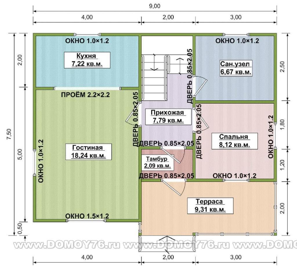 Проект виола план первого этажа