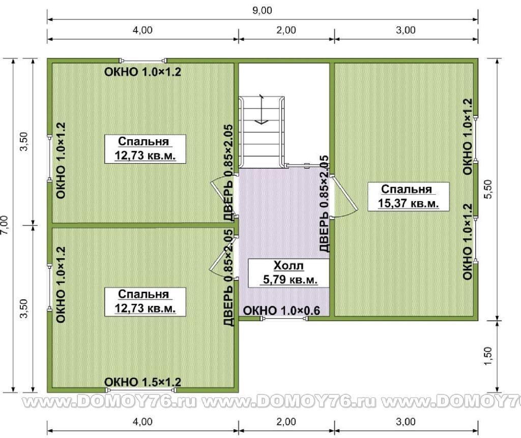 Проект виола план второго этажа