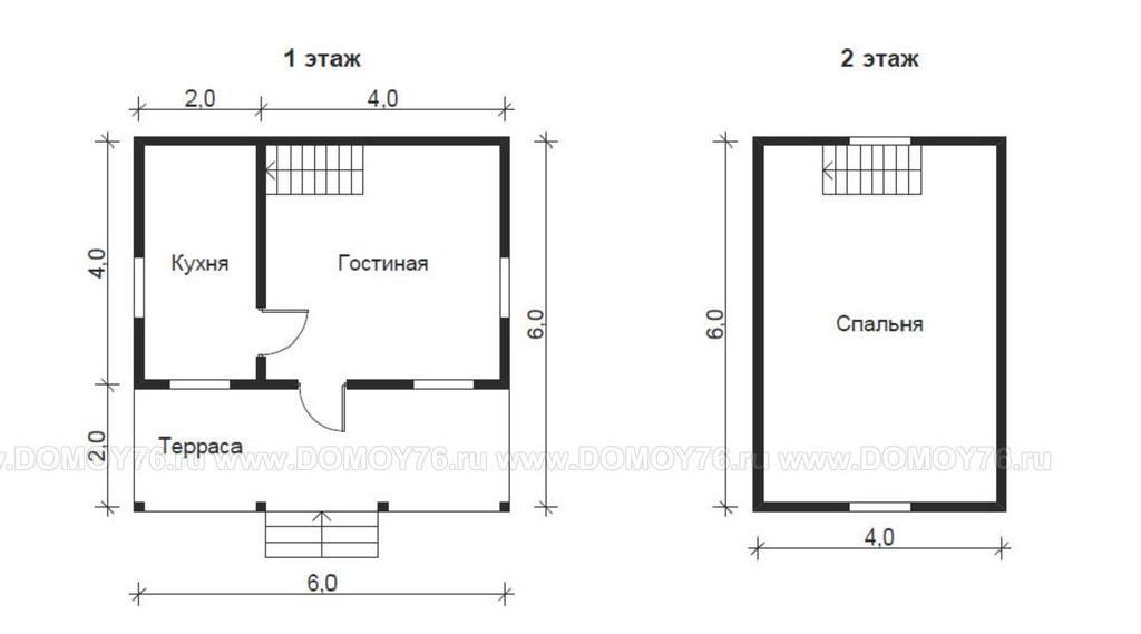 план дома по проекту Виктория