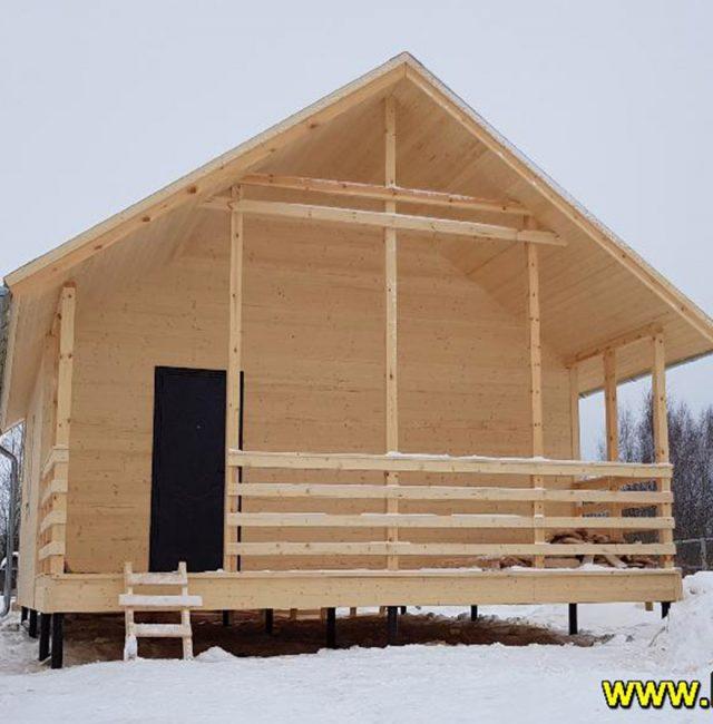 Строительство дачного дома 6×8
