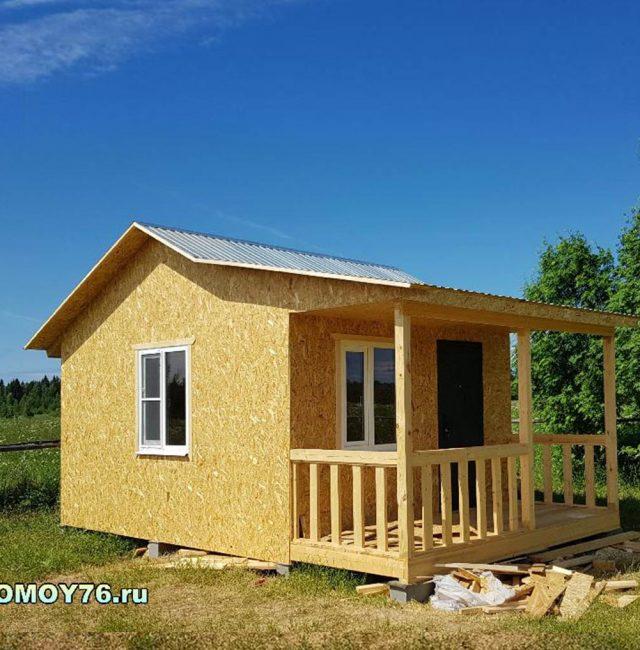 Дом по проекту дачник 5.5×6