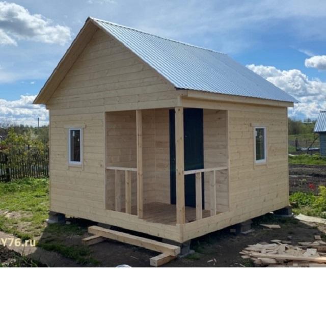 Дачный дом. 4х4 м.