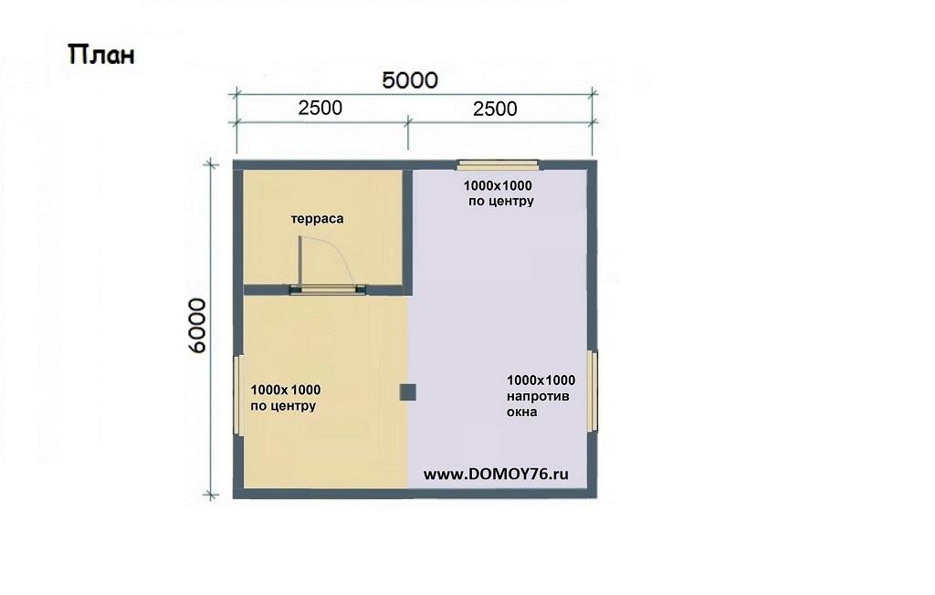План садового дома 1