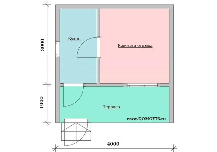 План садового дома Венетта