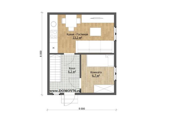 План дома Виола, 1 этаж