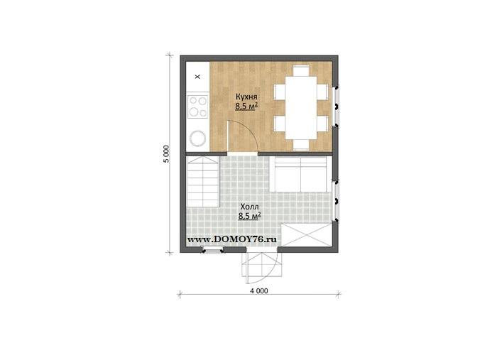 План дома Милан первый этаж