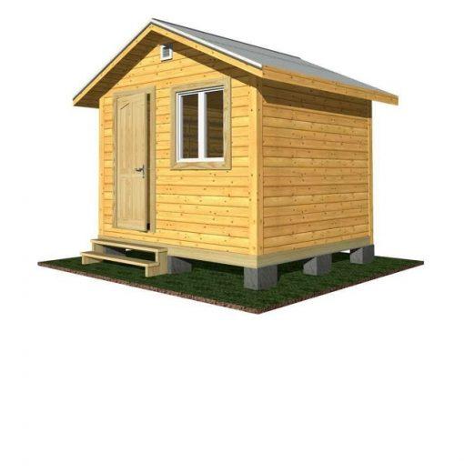 Садовый дом «Венге-2». 3х3 м.